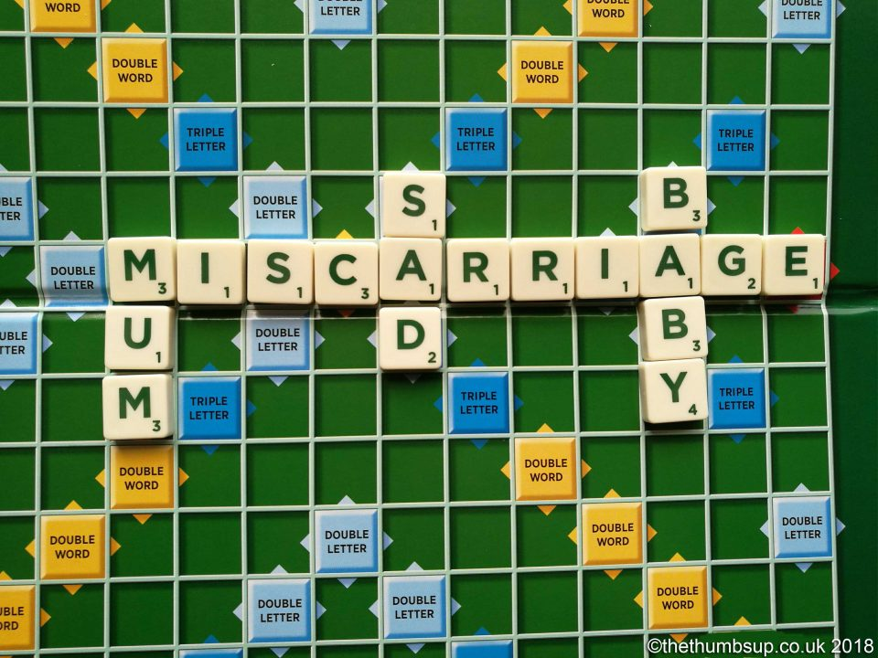 Scrabble Board for Miscarriage