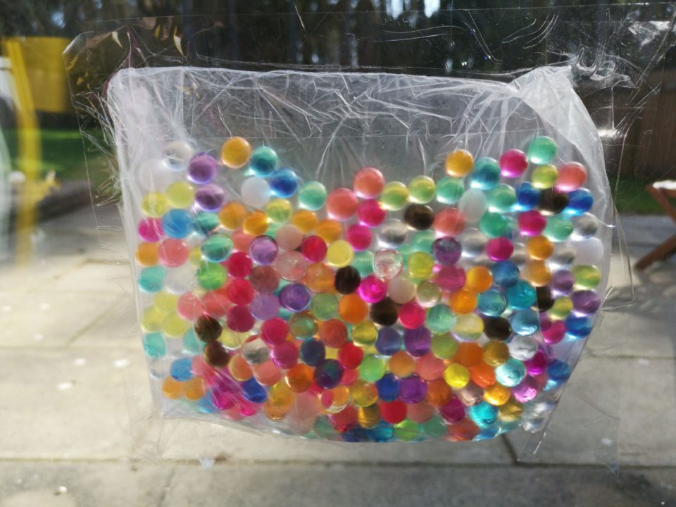 Colourful water beads