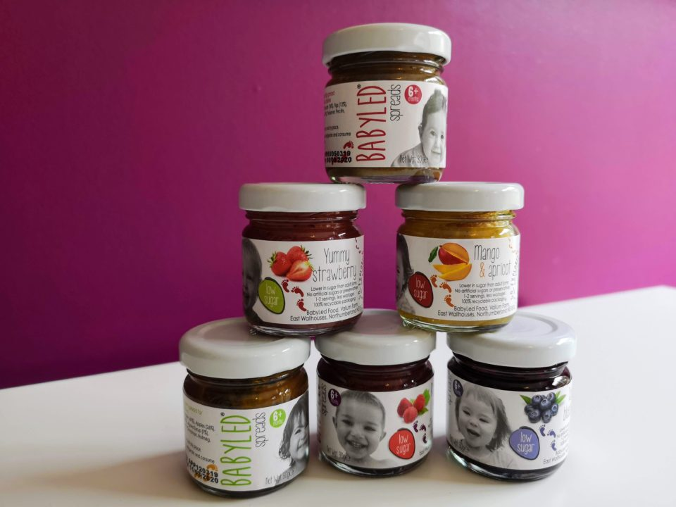 Pyramid of BabyLed sweet spreads