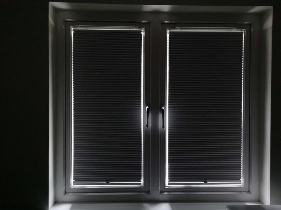 EcoFit blackout blinds closed