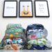 Becoming more sustainable - Colourful pile of cloth nappies